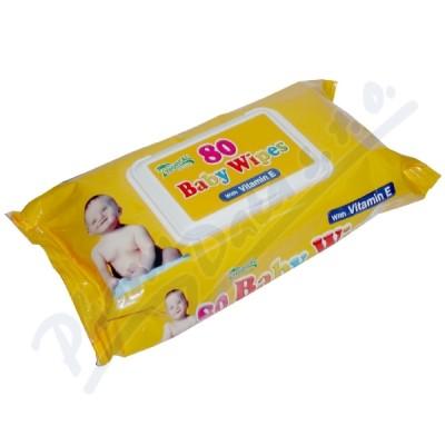 Ubrousky dětské hyg.Baby s vit.E 80ks