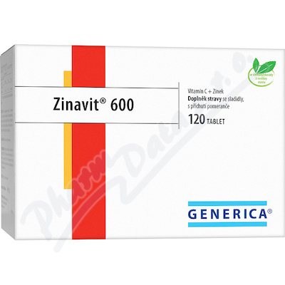 Zinavit 600 žvýkací tablety 120ks