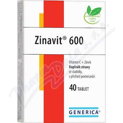 Zinavit 600 žvýkací tablety 40ks