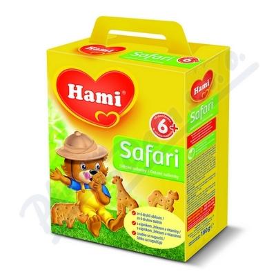 HAMI Safari dětské sušenky 180g 6M 95621