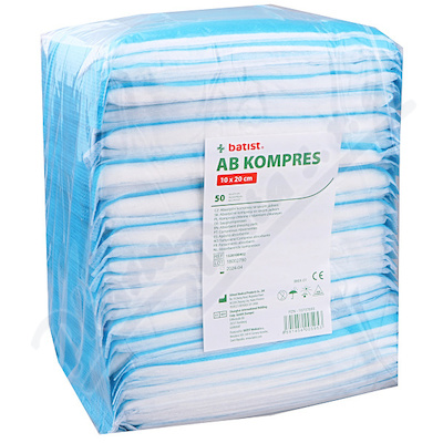 AB Kompresy 4542 10x20cm nesterilní 50ks
