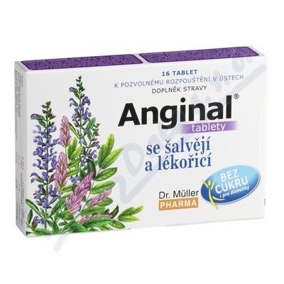 DR.MULLER Anginal šalvěj+lékořice tbl.16
