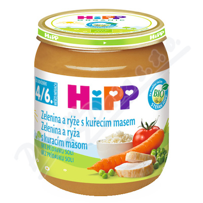 HiPP BM zel.omáčka,rýže,kuře125g CZ6253
