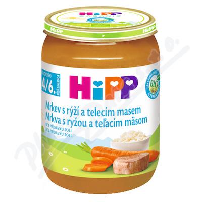 HiPP BM karotka,rýže,tel.maso190g CZ6143